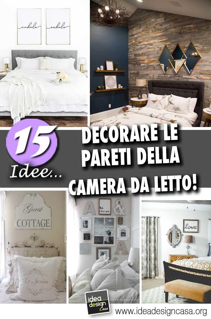 Pareti camera da letto 15 idee per decorare con stile e for Decorare camera da letto matrimoniale