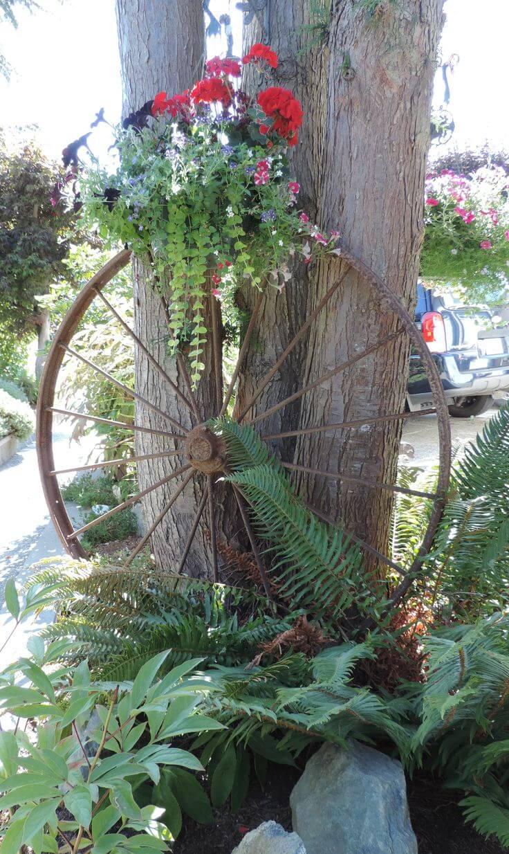 Decorazioni vintage in giardino