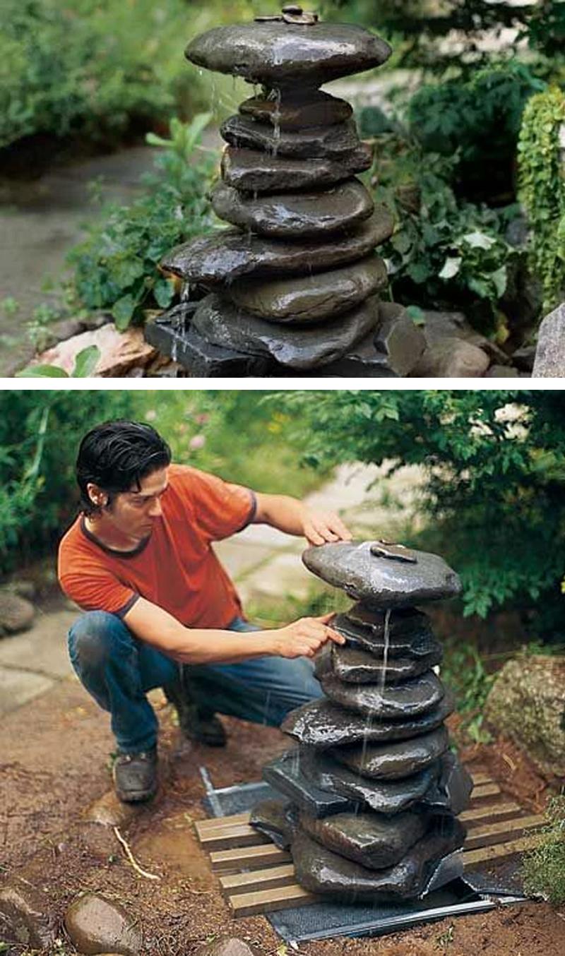 Fontana da giardino fai da te 15 idee per un casa for Fontana fai da te