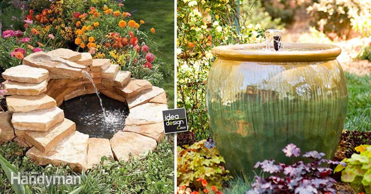 Fontana da giardino fai da te 15 idee per un casa for Idee x realizzare un giardino