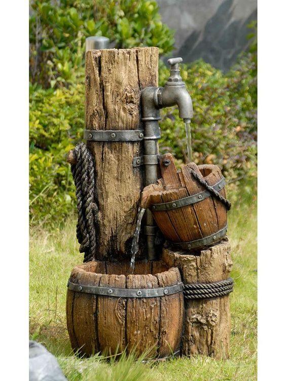 fontane in legno 15 idee per una fontanella fai da te in