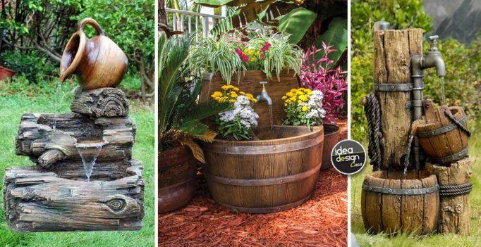 Idee Per Il Fai Da Te Legno : Fontane in legno: 15 idee per una fontanella fai da te in giardino