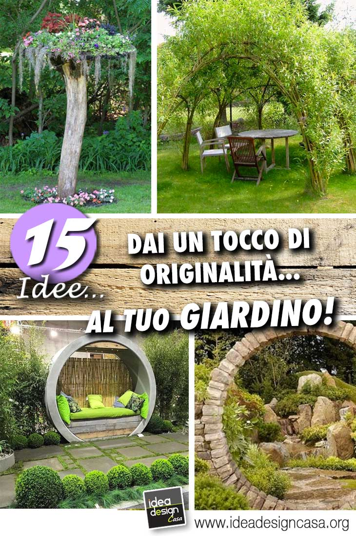Idee per il giardino 15 giardini con un tocco di - Giardino di casa idee ...