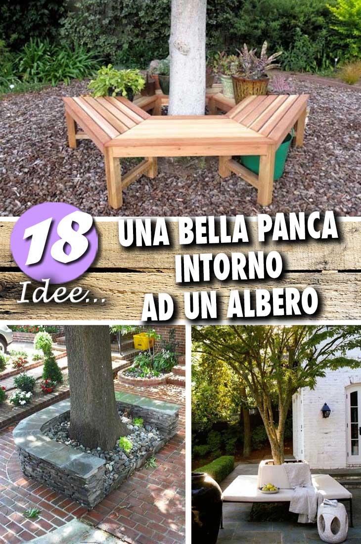 Pedana Di Legno Per Giardino una bella panca intorno ad un albero! 18 idee da cui trarre
