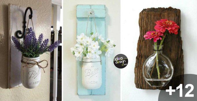 Riciclare il legno e non solo con questi 15 porta vasi da parete ispiratevi - Portavasi in legno fai da te ...