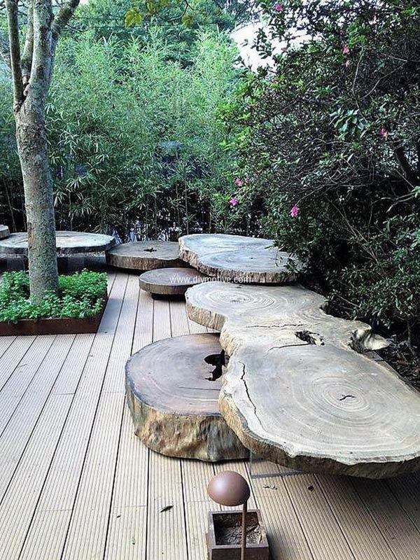 Tronchi di legno 15 bellissimi esempi fai da te per - Arredare il giardino fai da te ...