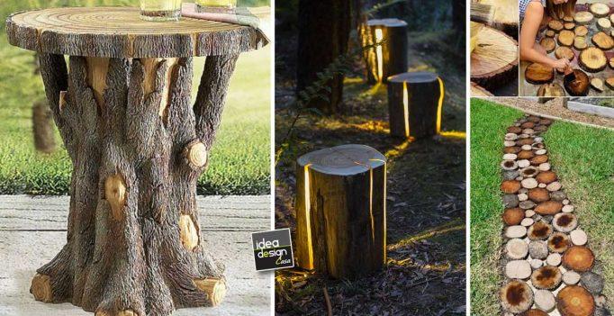 Tronchi di legno 15 bellissimi esempi fai da te per - Abbellire il giardino fai da te ...