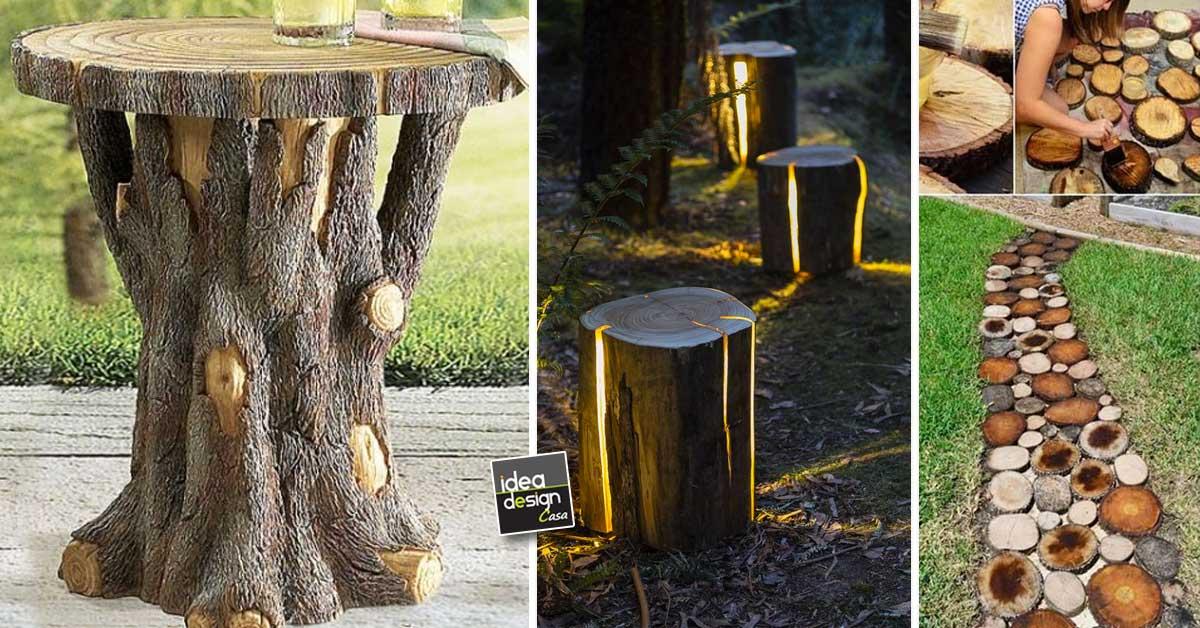 Tronchi di legno 15 bellissimi esempi fai da te per - Il giardino di legno ...
