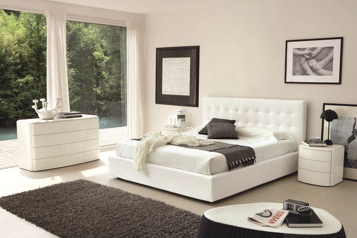 Camera da letto bianca ecco 15 idee per un design eterno - Camera da letto contemporanea bianca ...