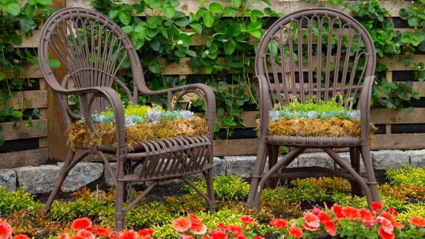 Come arredare un giardino con il vimini