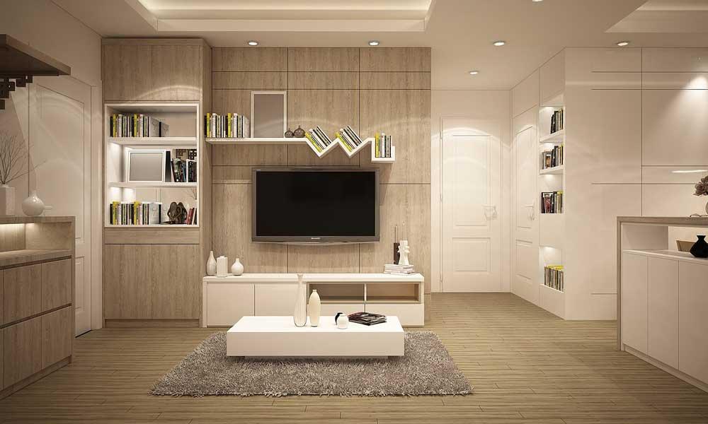 idee abbinamento colori pareti tortora e beige in soggiorno