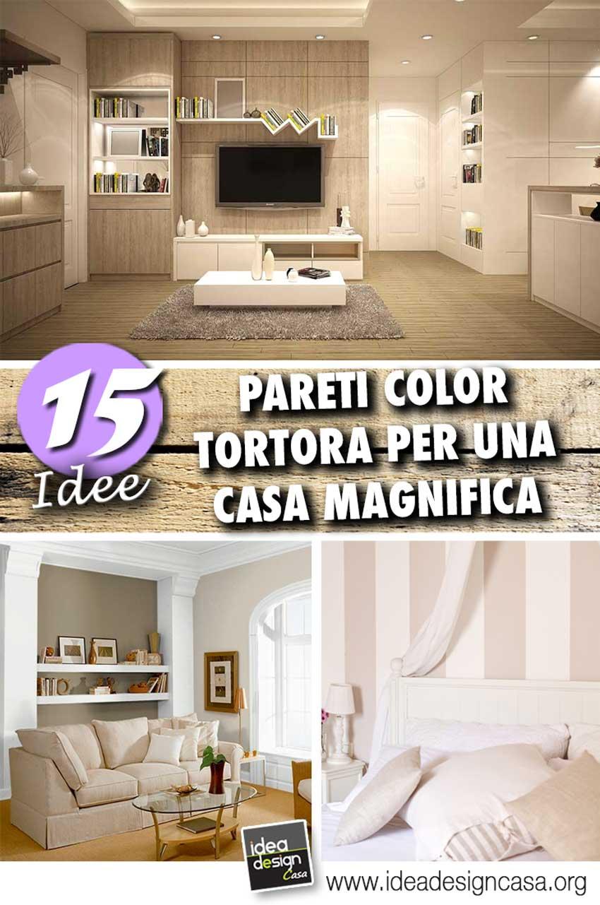 idee e ispirazioni per decorare le pareti con i color tortora