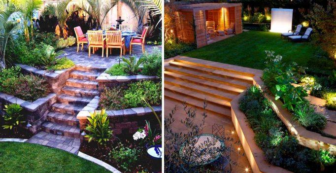 Come arredare un giardino in pendenza ecco 15 idee a cui for Decorazioni esterne giardino