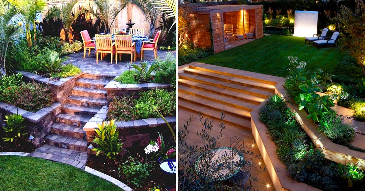 Come arredare un giardino in pendenza ecco 15 idee a cui - Idee per arredare un giardino ...
