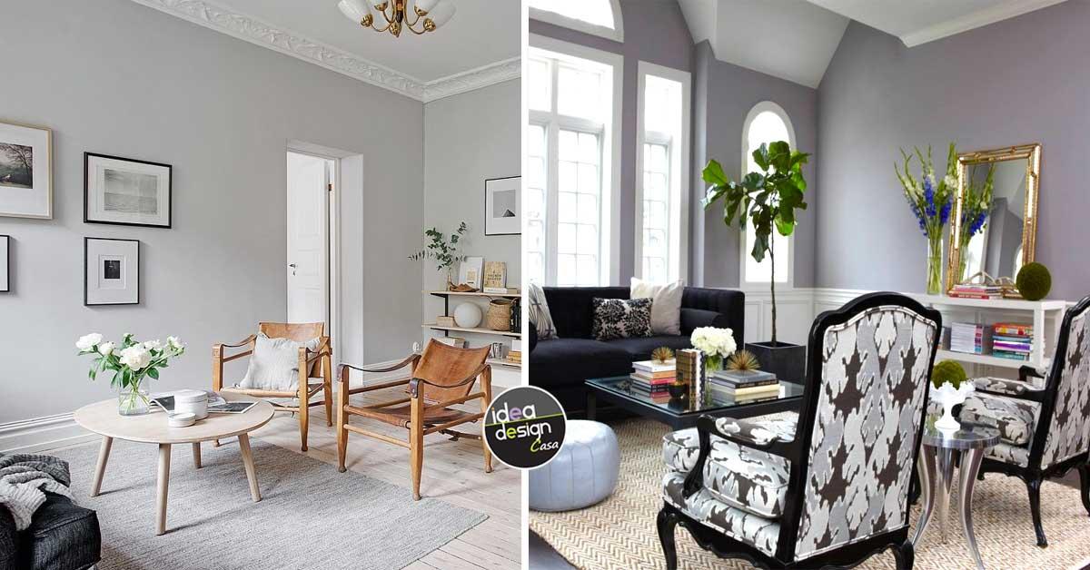 Pareti grigie in casa 15 idee per trovare la giusta - Pareti grigie soggiorno ...