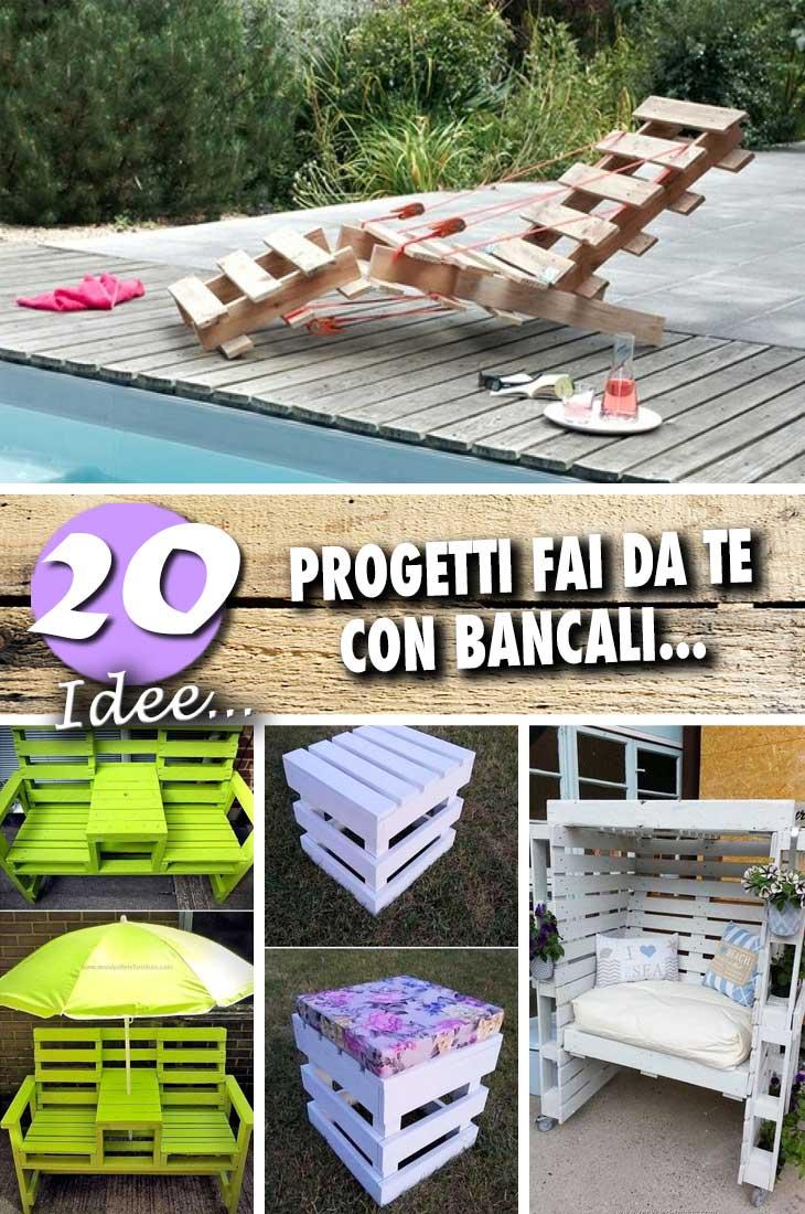 Progetto Tavolo Da Giardino.20 Progetti Fai Da Te Con I Bancali Per Gli Amanti Del Bricolage