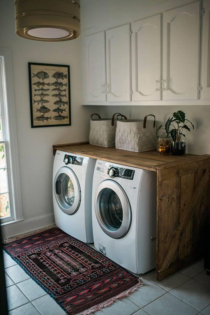 Decorating Vintage Style Laundry Or Shabby Chic U2013 Idea # 7