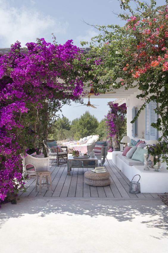 Un terrazzo con pergola