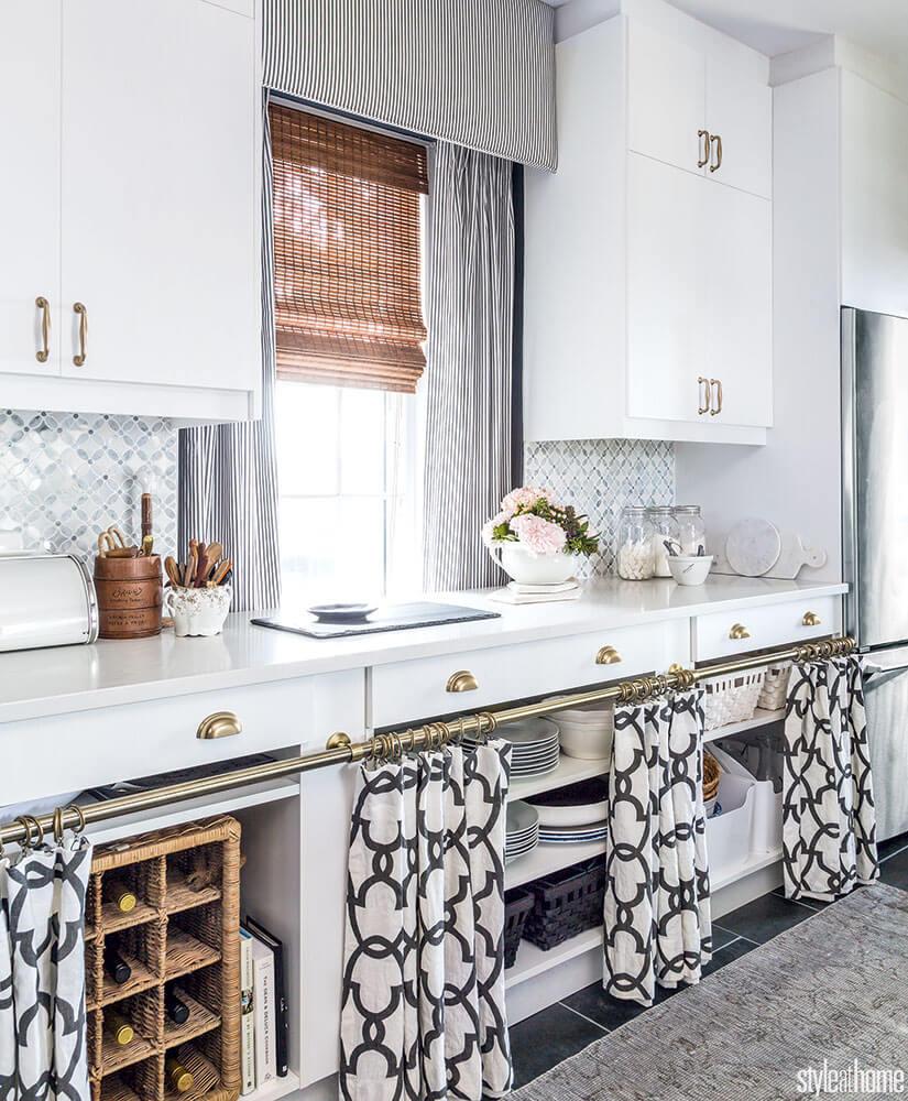 Una tendina sottolavello fai da te! Il tocco in più nella tua cucina ...