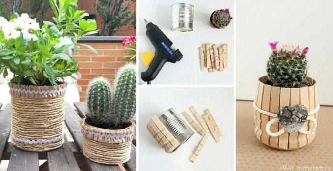 15 idee per un bel vaso personalizzato con il fai da te for Fai da te riciclo creativo
