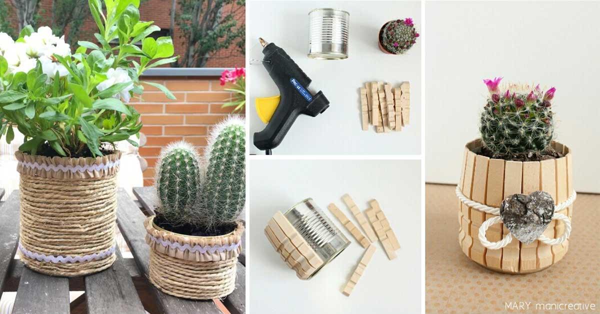 15 idee per un bel vaso personalizzato con il fai da te for Fai da te oggetti creativi