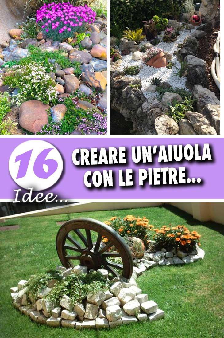 Piante Piccole Da Giardino un aiuola da giardino con le pietre! 16 idee fai da te da