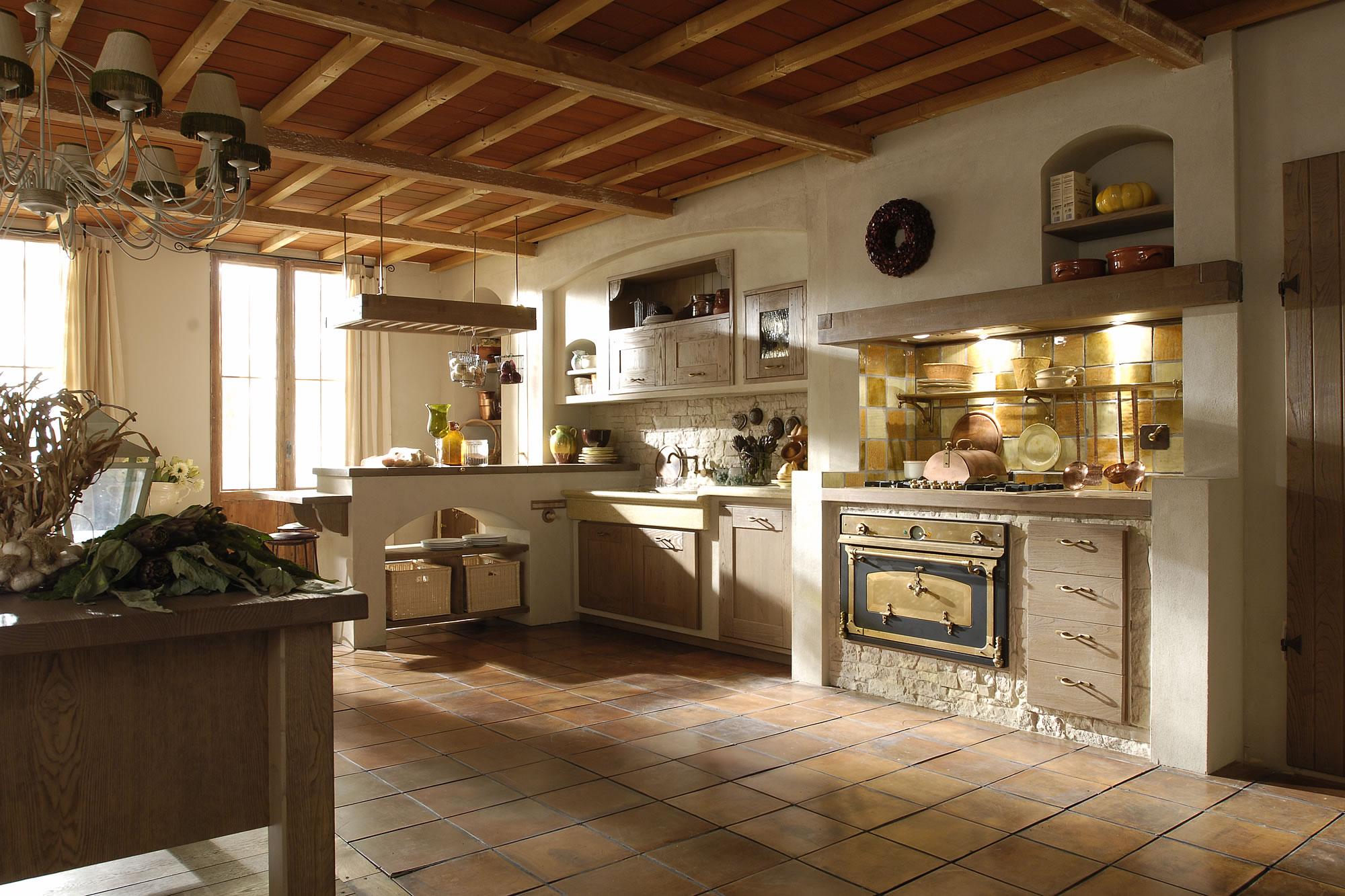Cucine in muratura 15 idee per progettare una cucina for Arredare una taverna rustica