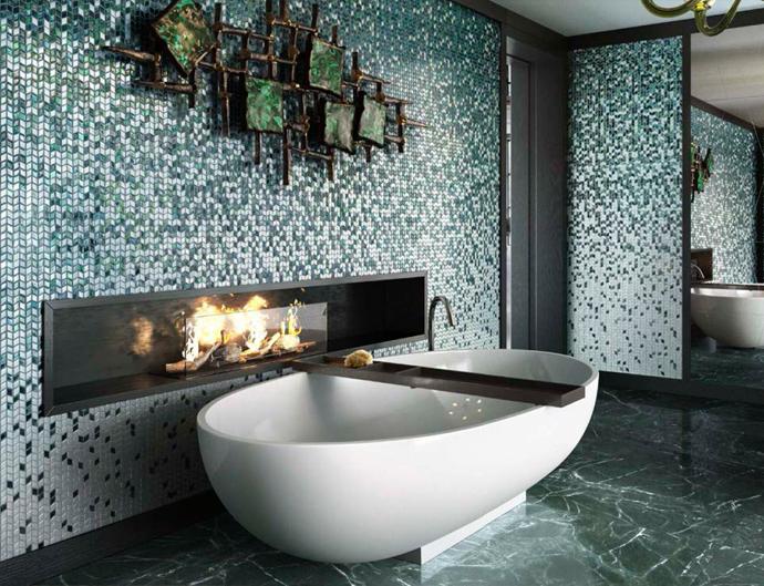 Décorer la salle de bain avec mosaïques : 15 belles idées pour ...