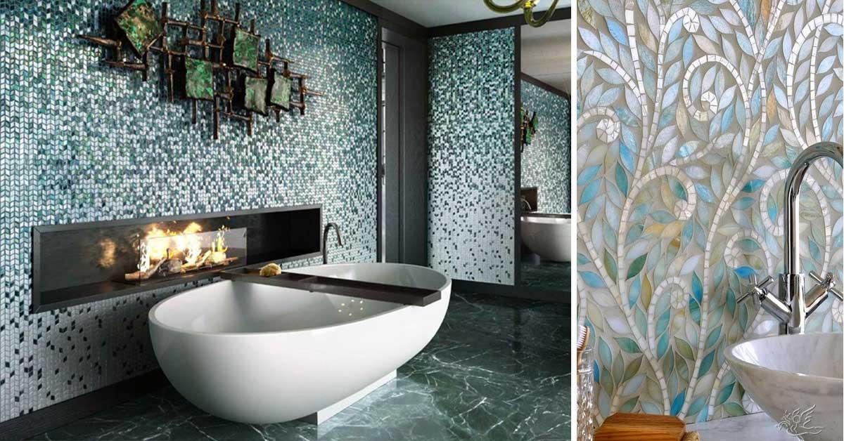 Decorare Casa Con Il Denim : Decorare il bagno con mosaico idee bellissime a cui