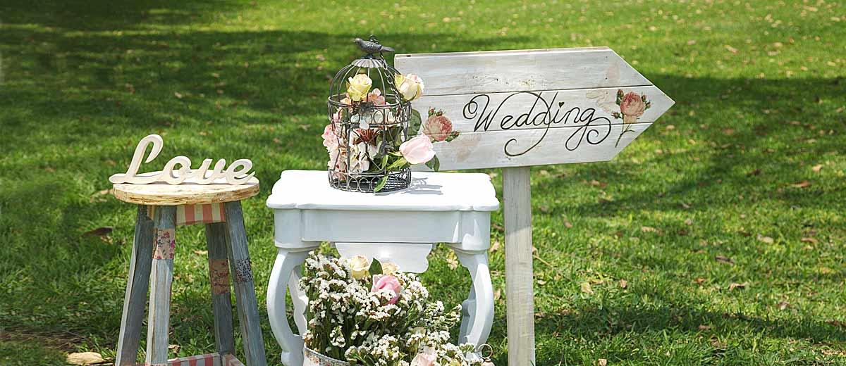 cartello wedding shabby chic per matrimonio