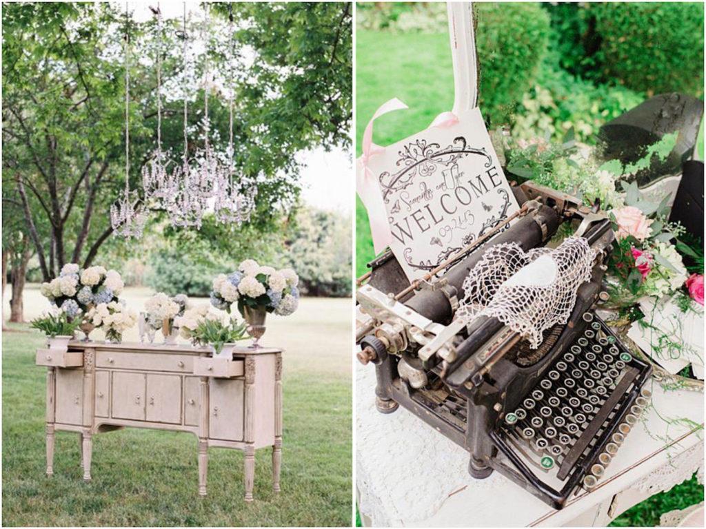 vecchi mobili per decorazioni matrimonio shabby chic
