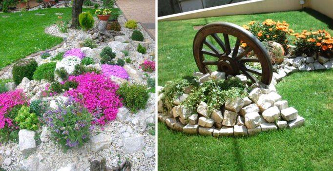 Pietre Da Giardino Per Aiuole : Un aiuola da giardino con le pietre idee fai da te da