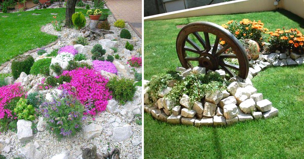 Un Aiuola Da Giardino Con Le Pietre 16 Idee Fai Da Te Da Realizzare