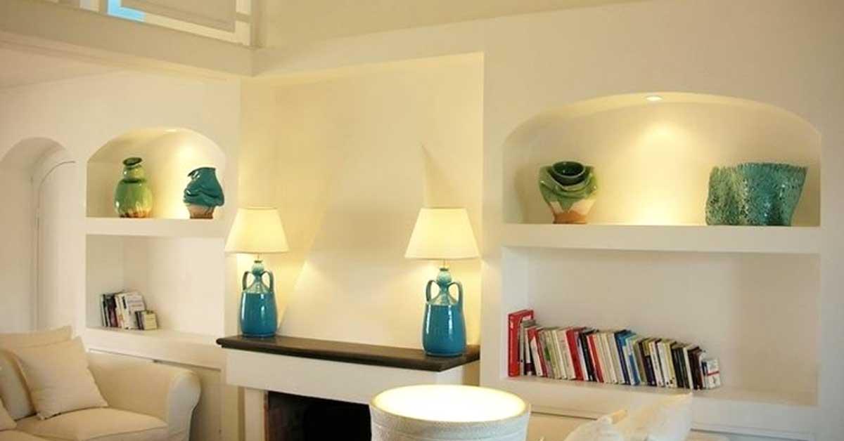 Costruire Mensole Per Libreria A Muro.15 Idee Da Realizzare Con Il Cartongesso Soffitto Nicchie
