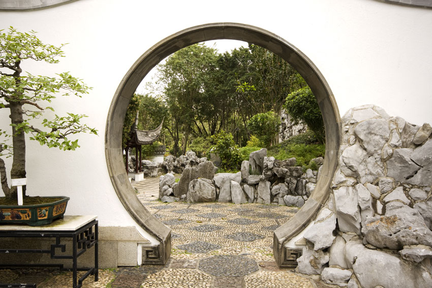 giardino roccioso stile cinese.