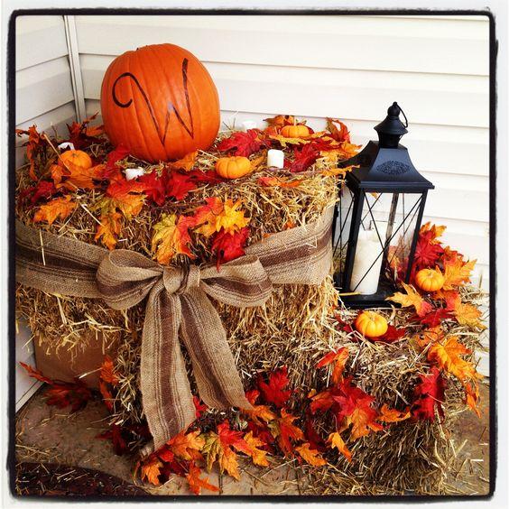 Decorare il balcone in autunno