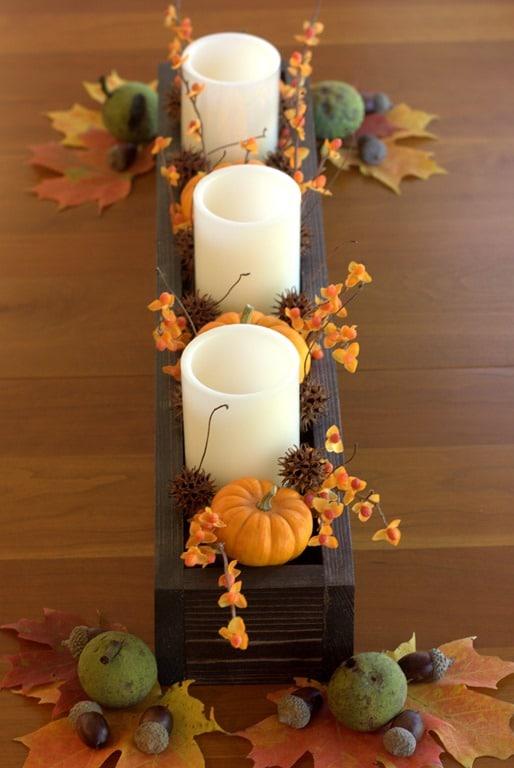 Decorare in autunno con le cassette di legno
