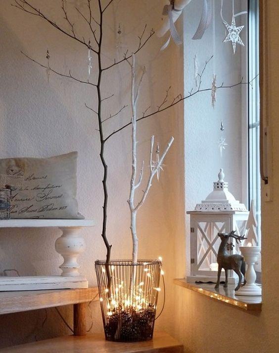 Decorazioni natalizie fai da te con tronchetti