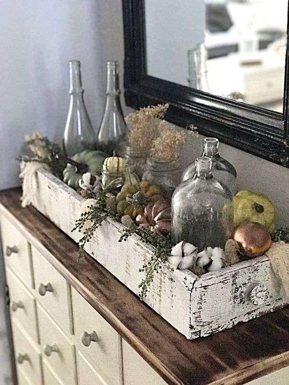 Decorazioni rustiche al sapore autunnale