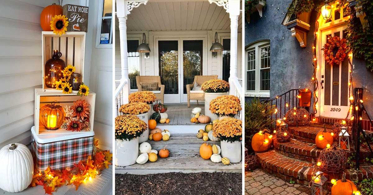 Decorare il portico in autunno.