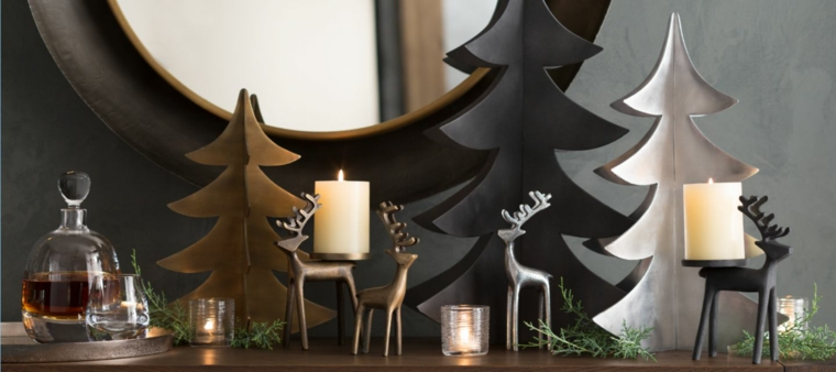 decorazioni albero di Natale nero