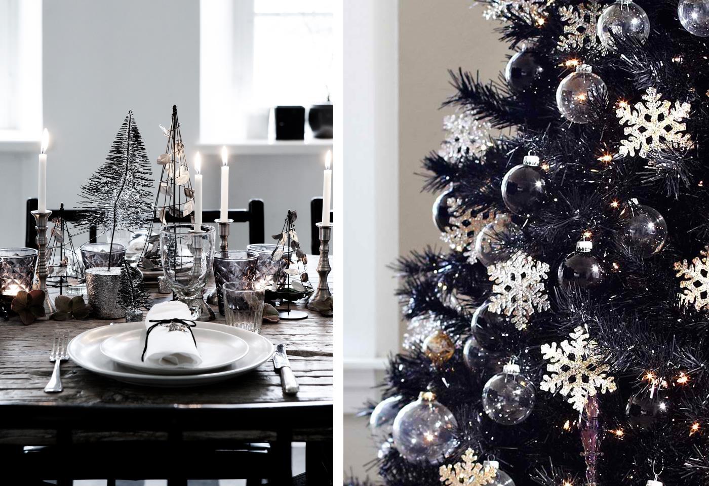 Informazione: Albero Di Natale Bianco Argento E Nero