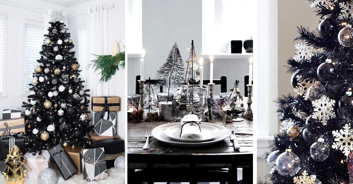 Menu Di Natale Americano.20 Decorazioni Per Un Albero Di Natale Nero Una Novita