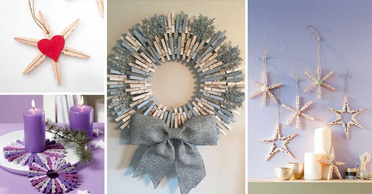 Creazioni natalizie fai da te con le mollette 15 idee for Creazioni casa fai da te