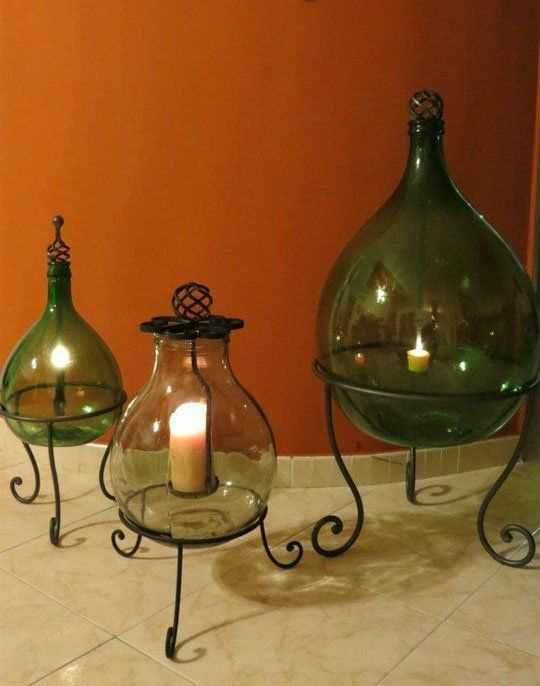 23 idee creative per arredare con vecchie damigiane for Idee per decorare
