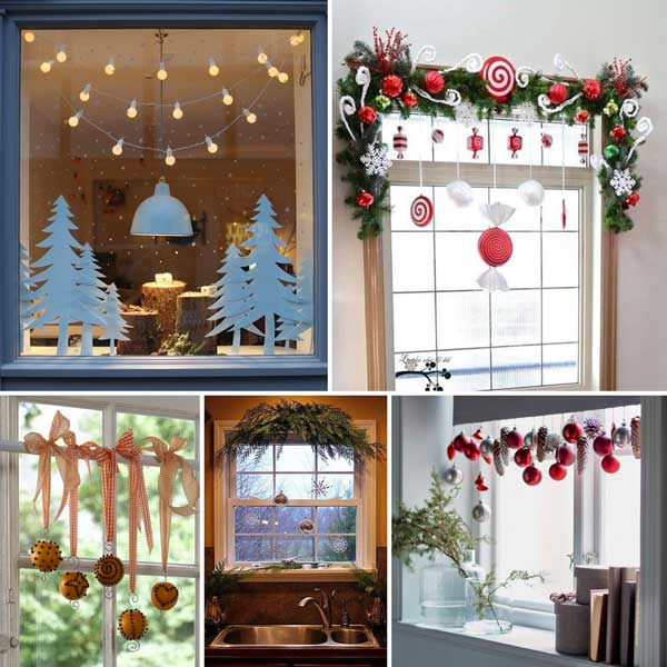 Decorazioni natalizie fai da te per una casa magnifica - Decorazioni natalizie finestre ...