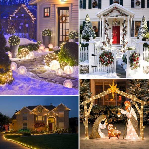 decorazioni natalizie fai da te giardino