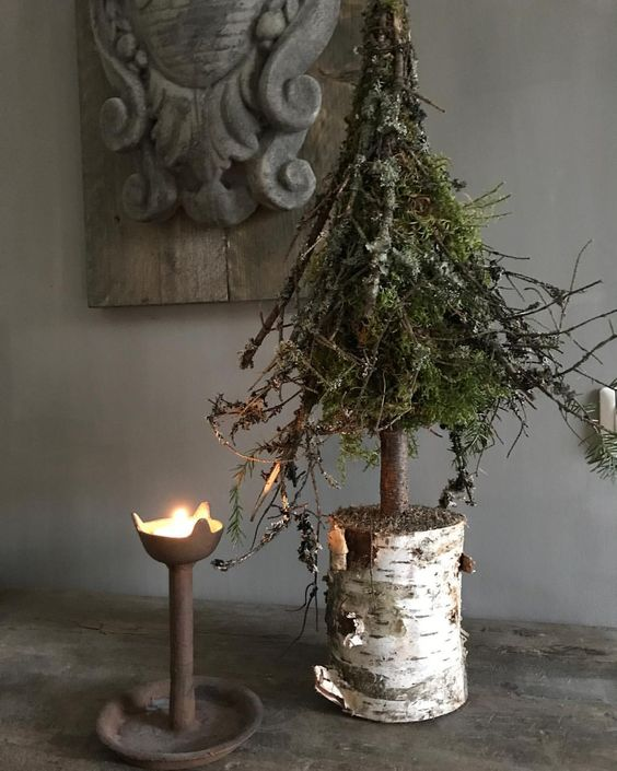 Decorazioni natalizie rustiche fai da te.