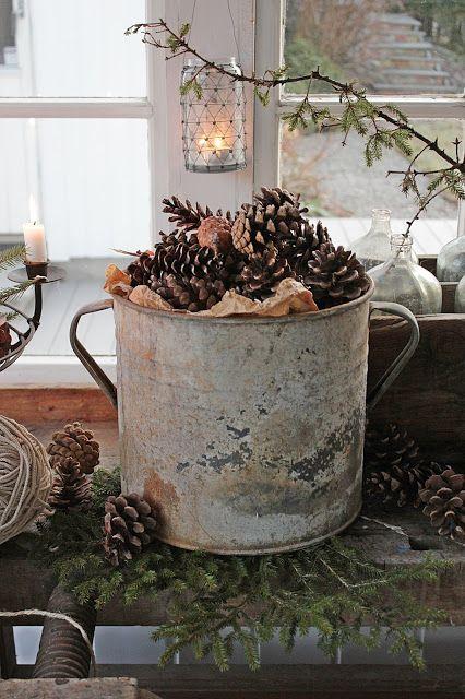 Decorazioni natalizie rustiche fai da te
