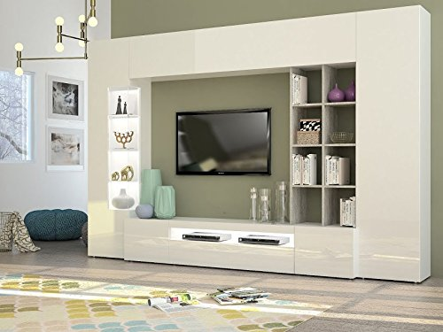 Mobile per parete tv con cornice per soggiorno moderno.